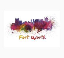 Fort Worth skyline in watercolor Kids Tee