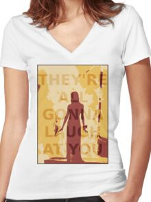 Carrie Women's Fitted V-Neck T-Shirt
