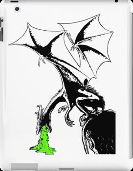 Dragon's Sickness [B&W] by Rastaman