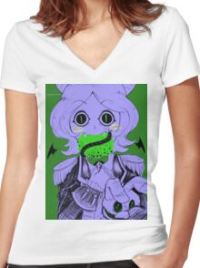 Parasite Flavor Women's Fitted V-Neck T-Shirt