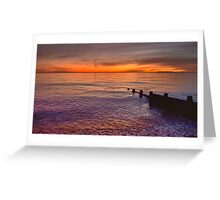 Sunset Over Selsey Two Greeting Card