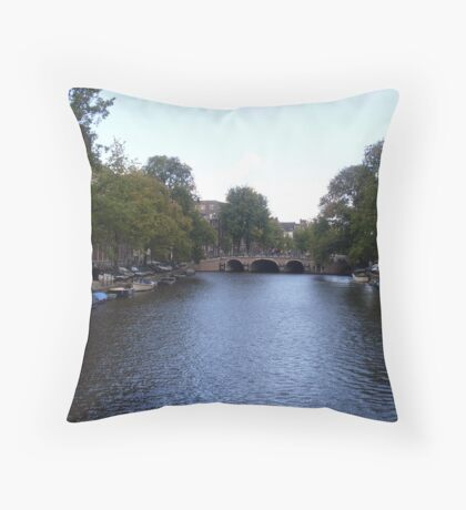 Canal of Wonder Throw Pillow
