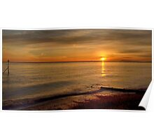 Sunset Over Selsey Three. Poster