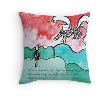 keine Flügel Throw Pillow