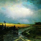 after a rain country road 1869 by Adam Asar