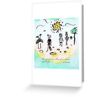 Wandern Greeting Card