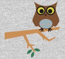 Owl on a Limb One Piece - Short Sleeve
