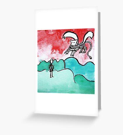 fliegender Tiger Greeting Card