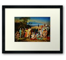 The Apparition of Christ to the People (PR) Framed Print