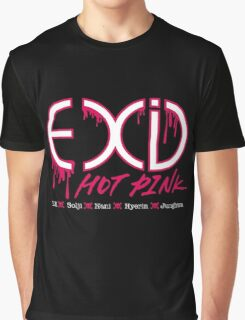 EXID Hot Pink Graphic T-Shirt