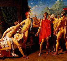 ambassadors sent by agamemnon to urge achilles to fight 1801 by Adam Asar