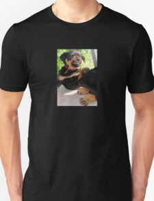 Grumpy Faced Rottweiler Puppy Lashes Out Unisex T-Shirt