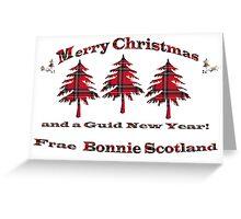 Tartan Christmas Card Greeting Card