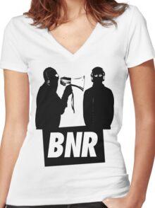 Boys Noize Records - BNR Women's Fitted V-Neck T-Shirt
