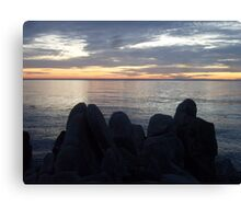 Rocky Silhouettes Canvas Print