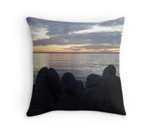 Rocky Silhouettes Throw Pillow