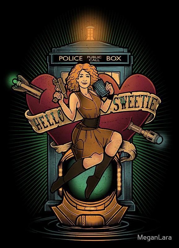 Hello Sweetie - PRINT by MeganLara