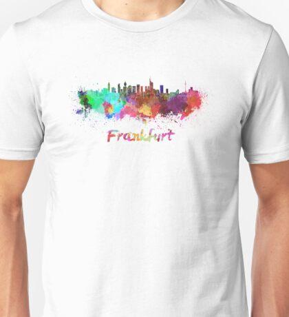 Frankfurt skyline in watercolor Unisex T-Shirt