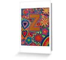 Initial Z Greeting Card