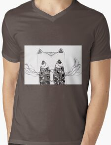 Cat Paradox Mens V-Neck T-Shirt