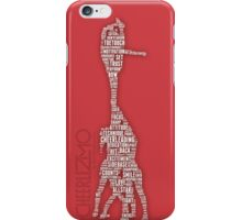 stunt  BOW silhouette wordscheerlizmo iPhone Case/Skin