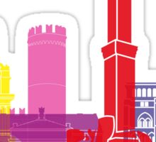 Genoa skyline pop Sticker