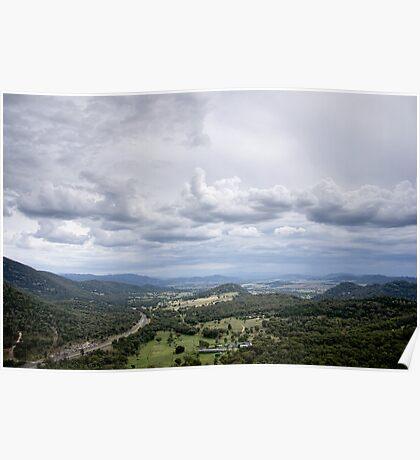Clouds over Moonbi - NSW - Australia Poster