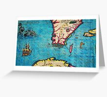 1280px 1591 De Bry and Le Moyne Map of Florida and Cuba Geographicus Florida debry 1591 part Greeting Card