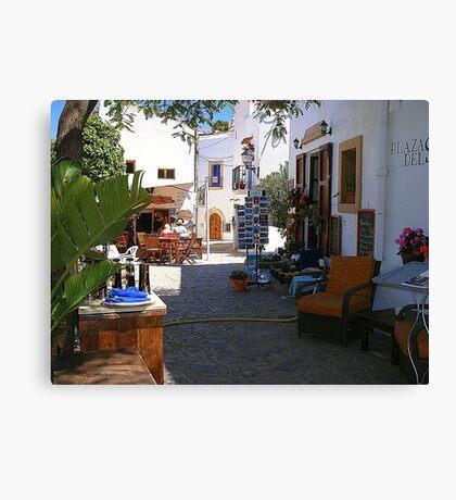 Sun And Shade In Ibiza Canvas Print
