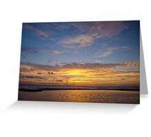 10 December 2012 Sun Rise over Escambia Bay Greeting Card