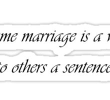 Marriage is a word Sticker