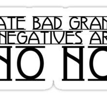 Double Negatives Sticker