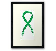 Awareness Green Ribbon Framed Print
