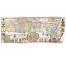 1632 Tirinus Map of the Holy Land Israel w numerous insetsGeographicus HolyLand tirinus 1632 Poster