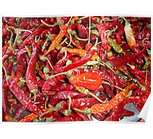Sundried Chili Peppers Poster
