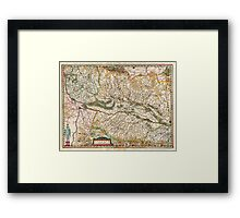 1644 Jansson Map of Alsace Basel and Strasbourg Geographicus AlsatiaSuperior jansson 1644 Framed Print