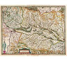 1644 Jansson Map of Alsace Basel and Strasbourg Geographicus AlsatiaSuperior jansson 1644 Photographic Print