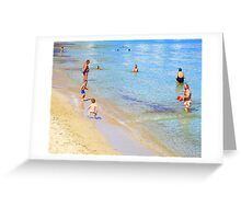 Bare Bums And Bellies In Ibiza Greeting Card