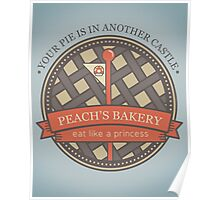 Peach's Bakery Poster