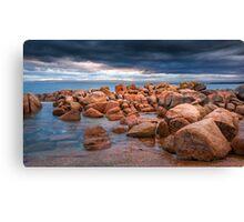 Rocks, Richardsons Beach Canvas Print