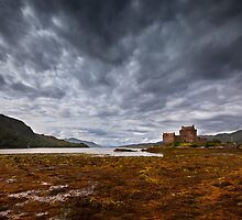 Storm over ther Castle by Dominique Dubied