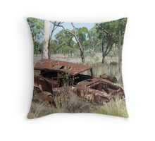 Rusting away beside Route 63 Throw Pillow
