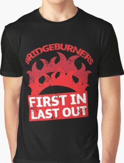 BRIDGEBURNERS distressed fan art FIRST IN LAST OUT Graphic T-Shirt