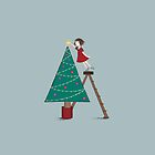 Christmas tree girl by Kate Kingsmill
