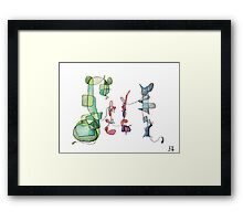 An abstract family portrait Framed Print