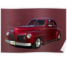 1941 Mercury Custom Coupe Poster