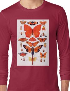 Orange Insect Collection Long Sleeve T-Shirt