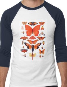 Orange Insect Collection Men's Baseball ¾ T-Shirt