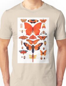 Orange Insect Collection Unisex T-Shirt