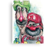 Mario Brothers Family Portrait Canvas Print